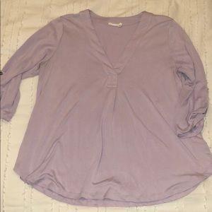 Soft casual purple top